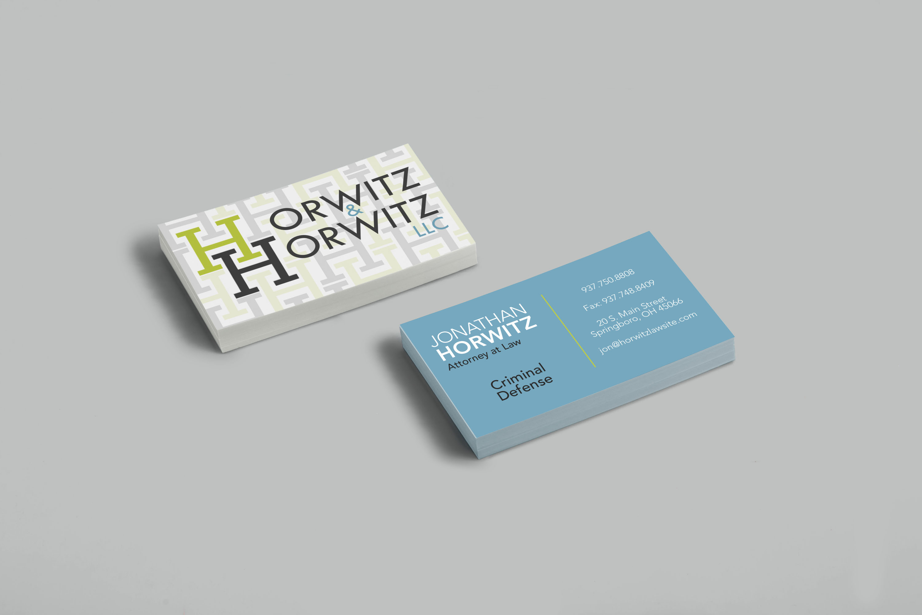Horwitz & Horwitz, LLC | Print Design - Business Cards | Luke Sillies Design