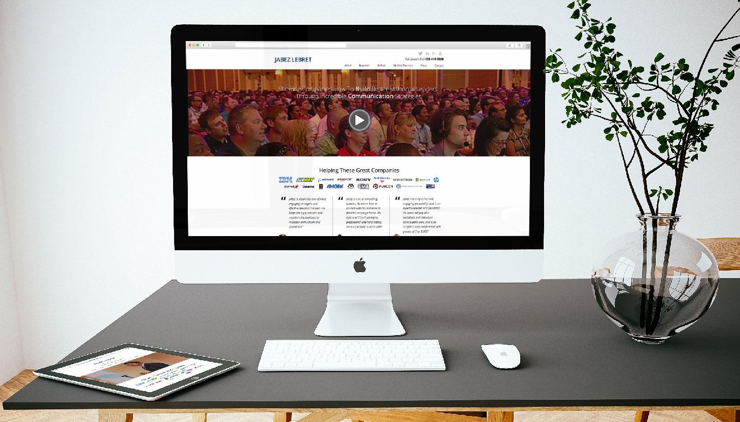 Jabez LeBret | Custom Website Design | Luke Sillies Design