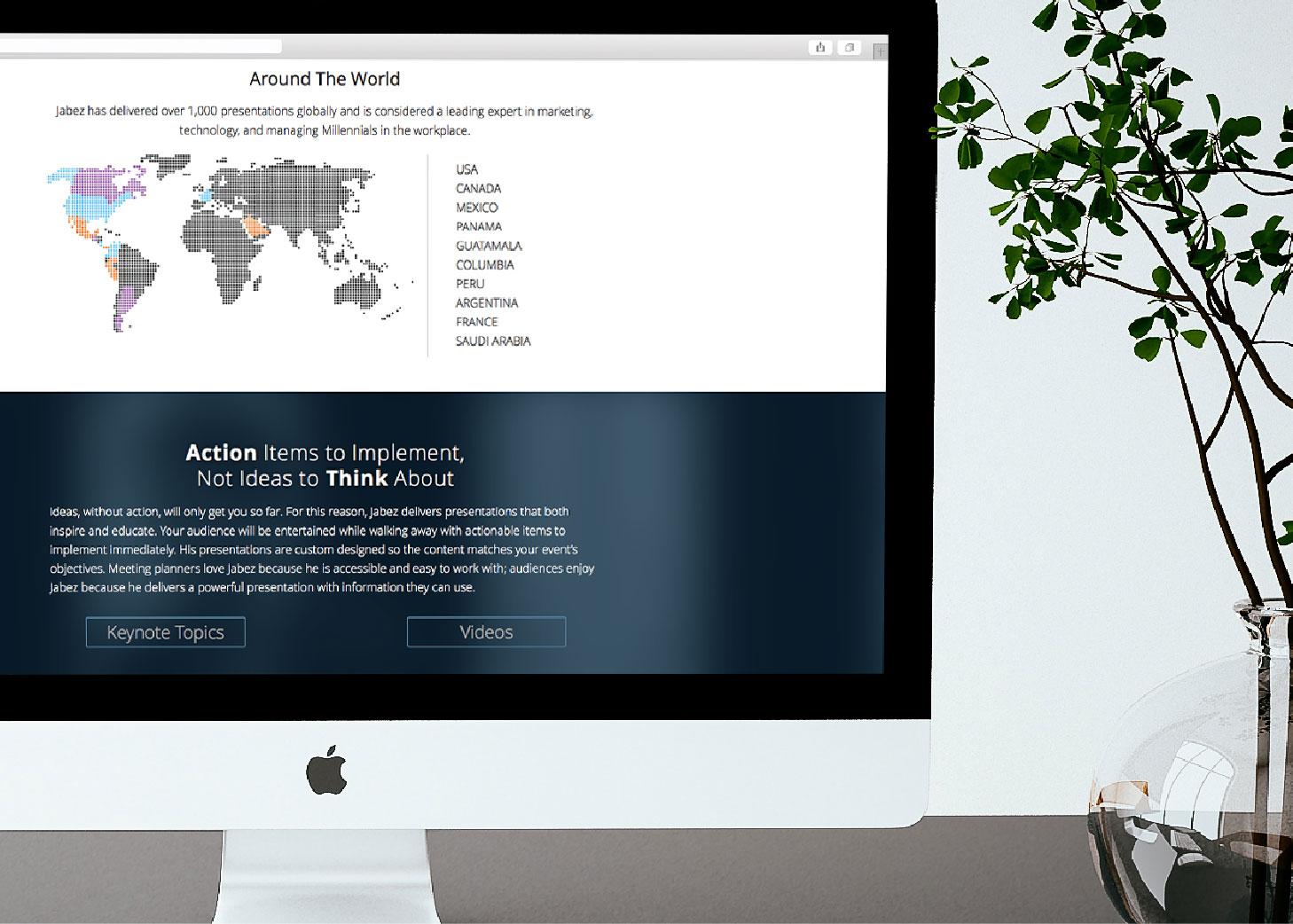 Jabez LeBret | Custom Imagery Website Design | Luke Sillies Design