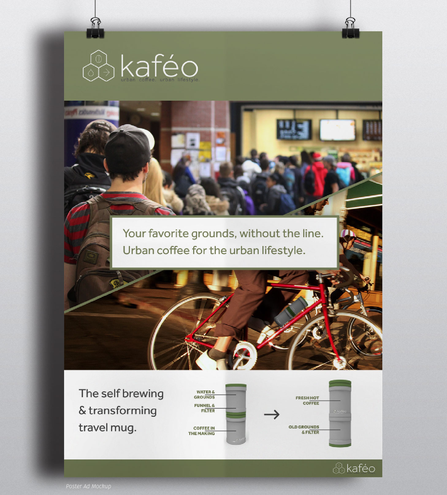 Kafeo Coffee | Print Design - Ad Concept | Luke Sillies Design