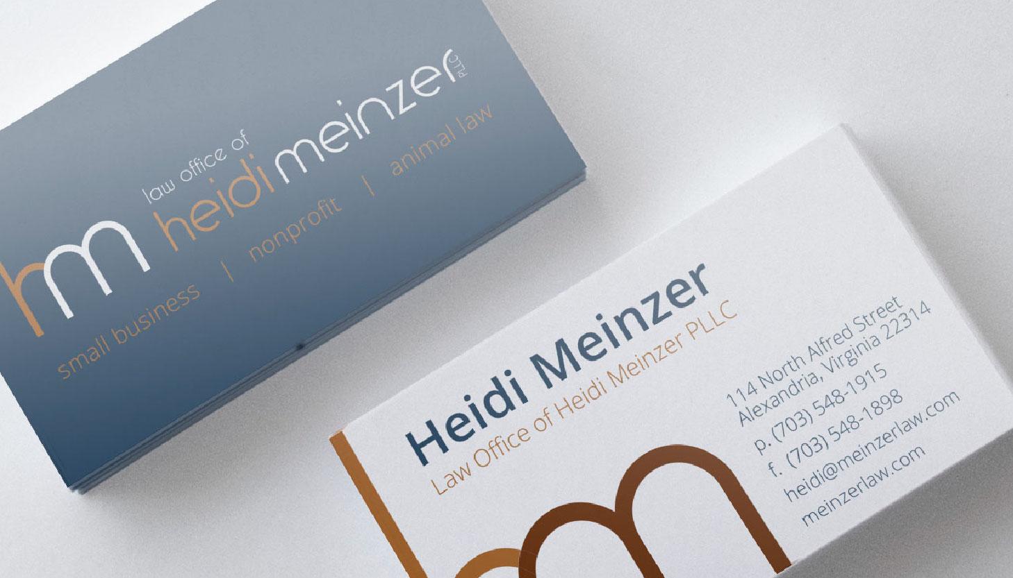 Heidi Meinzer, PLLC | Print Design | Luke Sillies Design