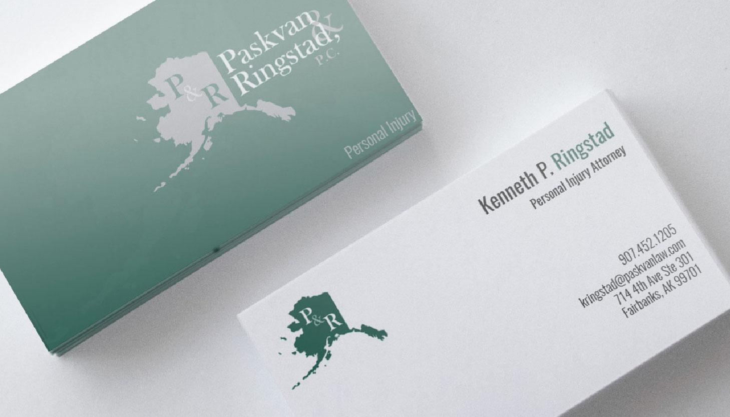 Paskvan & Ringstad, PC | Print Design | Luke Sillies Design