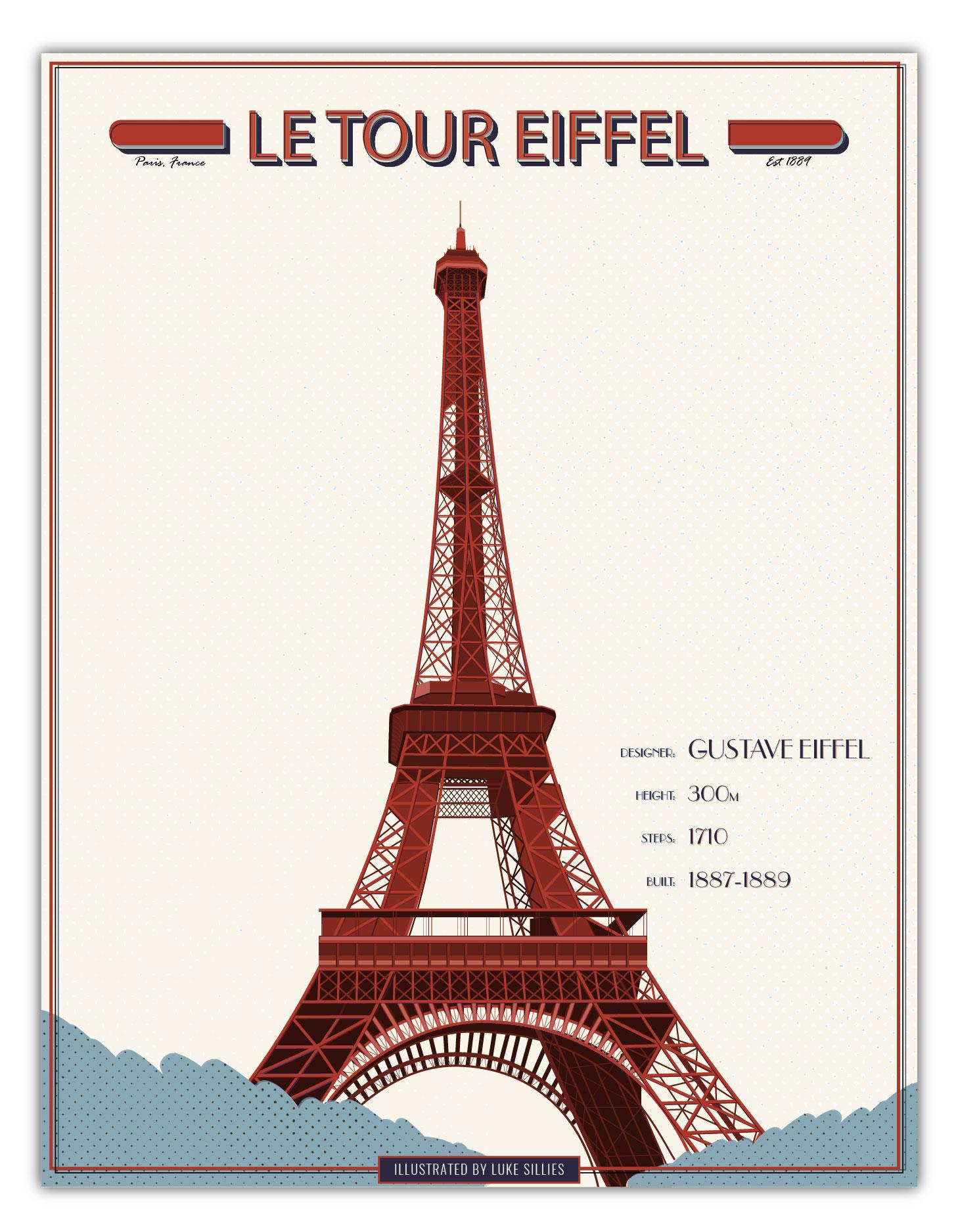 Eiffel Tower Vector Illustration | Graphic-Design | Luke-Sillies