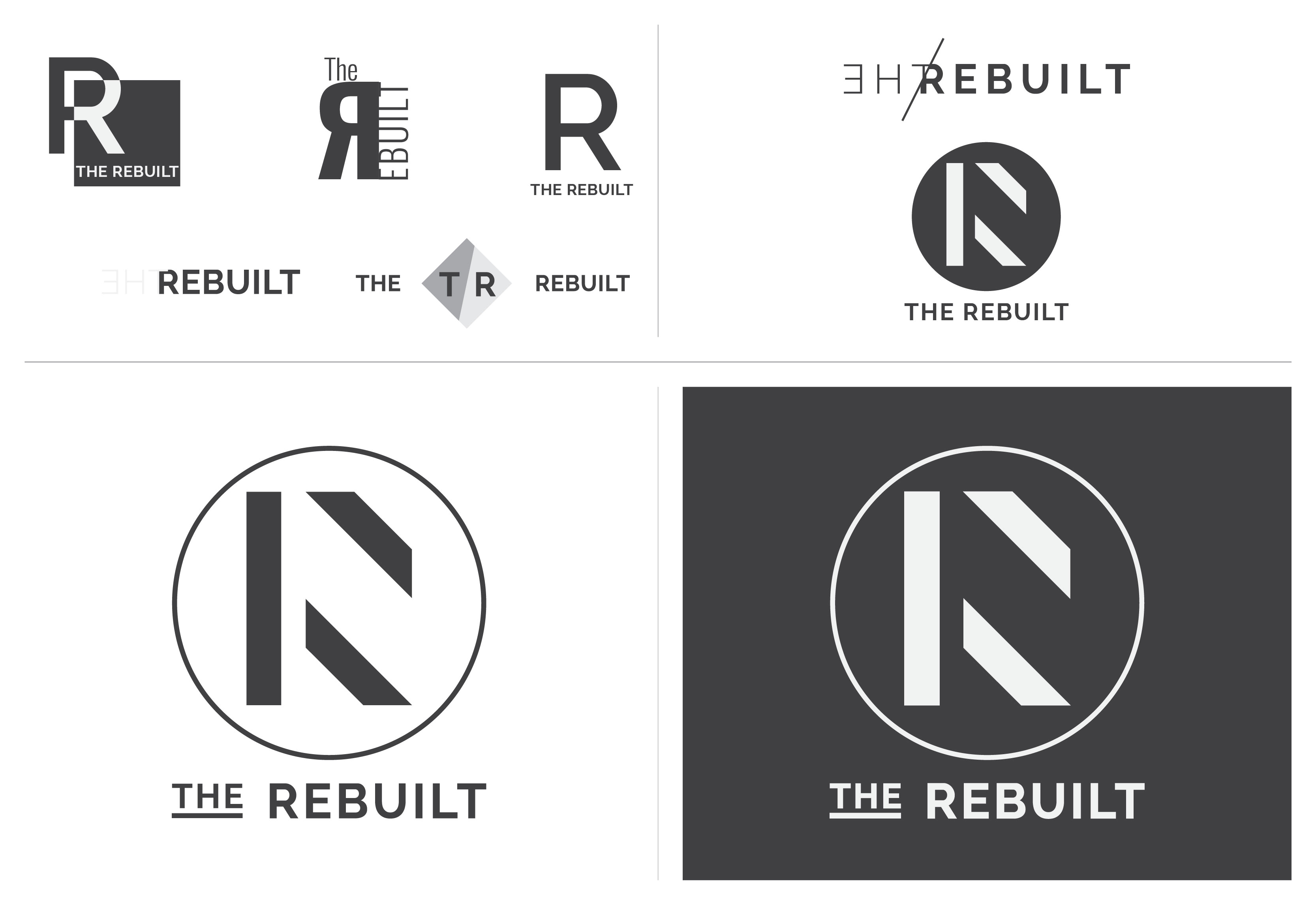 The Rebuilt | Brand Identity | Logo Ideation | Luke Sillies